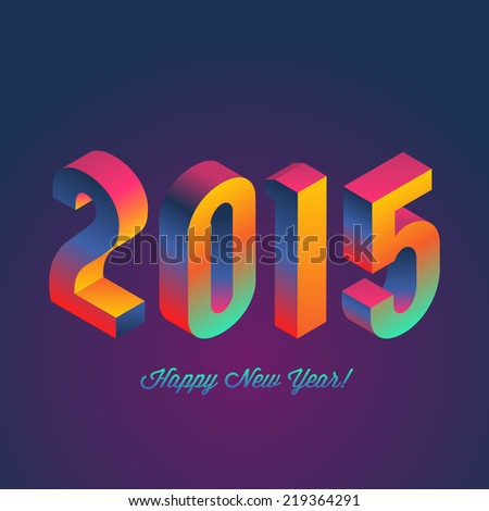 Happy New Year 2015 poster design. Vector illustration