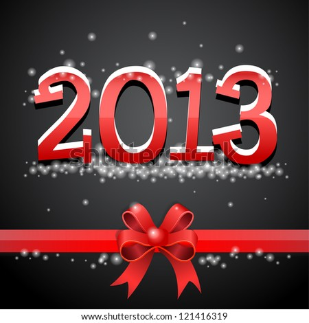Happy new year 2013 red - stock vector
