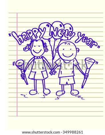 happy new year, sketch