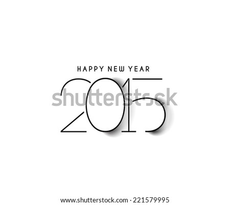 Happy new year 2015 Text Design  - stock vector