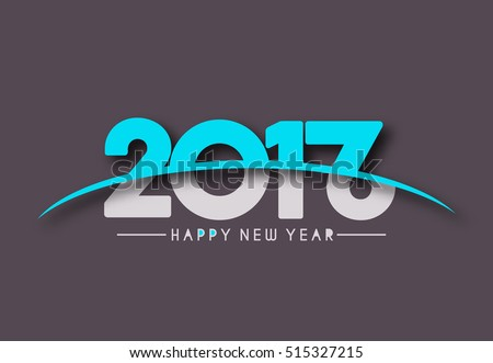 Happy new year 2017New Year  2016 Holiday design elements for holiday cards, for decorations Vector Illustration background