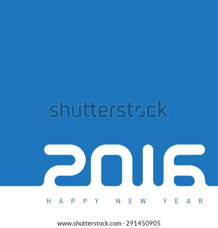 Happy new year 2016. The inscription is made out of snow. Creative greeting card design template. Universal Vector background. - stock vector