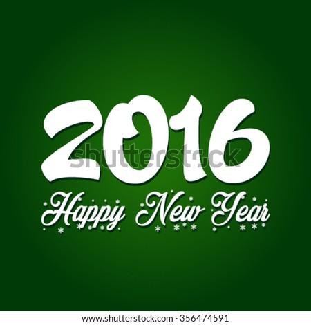 Happy New Year 2016 Vector - stock vector