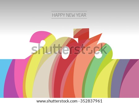 Happy New Year 2016. Vector. Background.