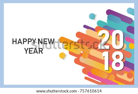 happy new year business cards