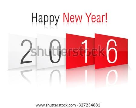 Happy new year 2016, vector eps10 illustration - stock vector