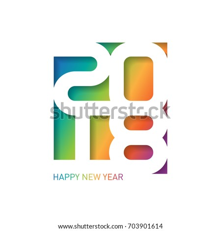 Happy new year 2018 vector greeting stock vector royalty free happy new year 2018 vector greeting card with carving art cover of business diary m4hsunfo