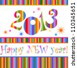 Happy new year 2013!  Vector illustration - stock photo