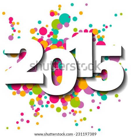 Happy new year 2015 vector illustration. - stock vector