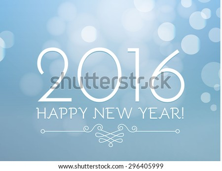 Happy New 2016 Year. Vector illustration - stock vector