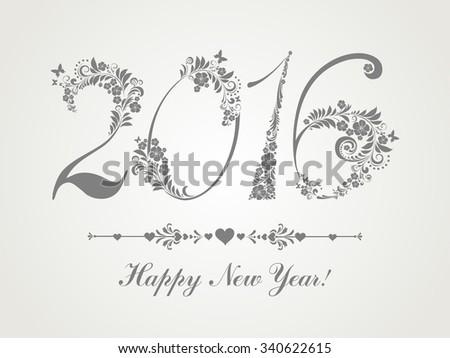 Happy new year 2016. Vector Illustration - stock vector