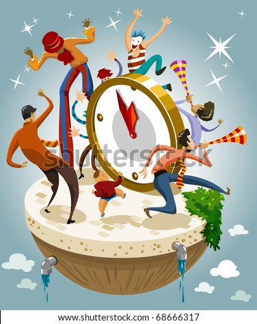 Happy New Year. Vector Illustration - stock vector