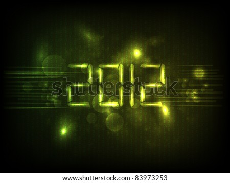 Happy new year 2012. Vector illustration. - stock vector