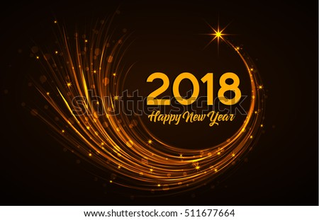 Happy New Year 2018 Vector Illustration Stock Vector 511677664 ...