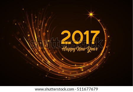 Happy New Year 2017, vector illustration Christmas background