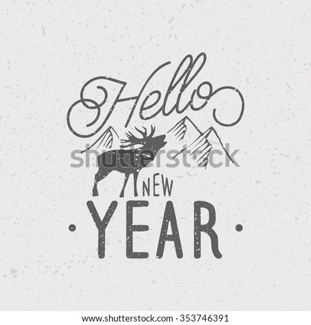 Happy New Year  Vintage Background - stock vector