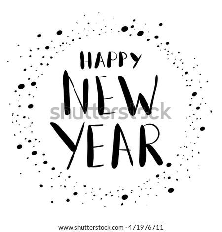 Happy New Year Wish Card Cute Stock Vector 471976711 - Shutterstock
