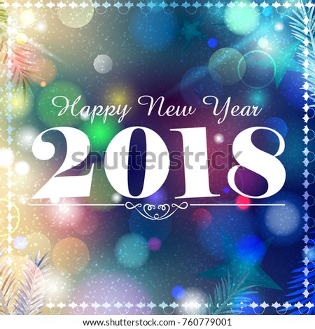 Happy new year 2018 wishes greeting stock vector 760779001 happy new year 2018 wishes greeting card template background design in vector m4hsunfo