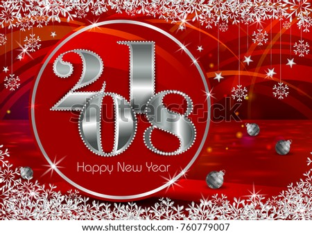 Happy new year 2018 wishes greeting stock vector 760779007 happy new year 2018 wishes greeting card template background design in vector m4hsunfo