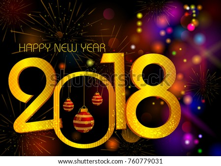 Happy new year 2018 wishes greeting stock vector hd royalty free happy new year 2018 wishes greeting card template background design in vector m4hsunfo