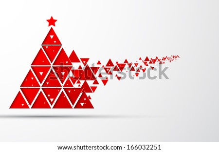 Happy NewYear and Christmas tree background