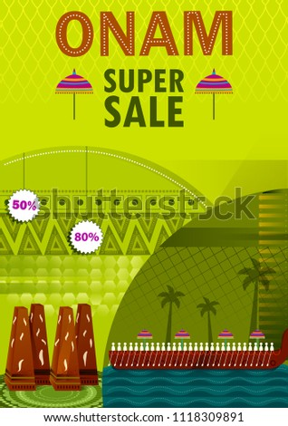 Happy onam festival greetings sale promotion stock vector hd happy onam festival greetings sale promotion background to mark the annual hindu festival of kerala m4hsunfo