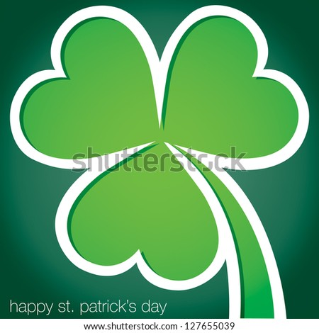 Happy Paddy's Day shamrock card in vector format.