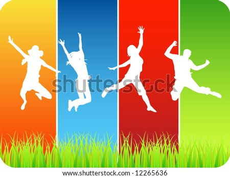 Happy people - stock vector