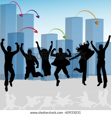 Happy people - stock vector