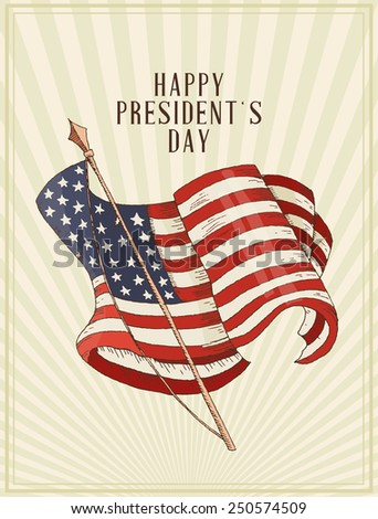 Happy President's Day in the United States of America.  USA design - stock vector