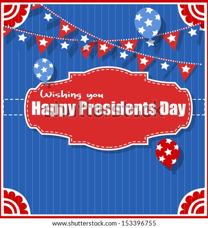 Happy Presidents Day Background Vector Illustration - stock vector
