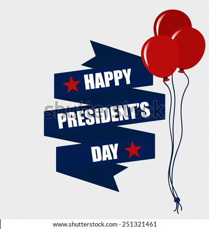 Happy Presidents Day. Presidents day banner illustration design. - stock vector