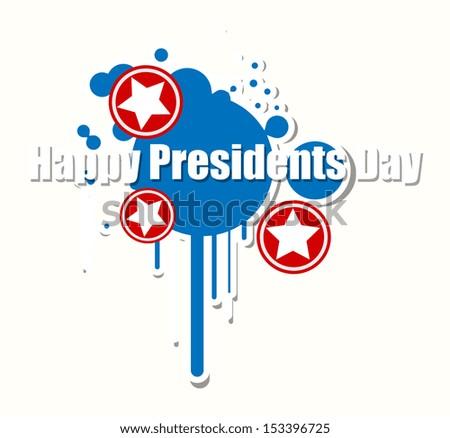 Happy Presidents Day Vector Illustration - stock vector