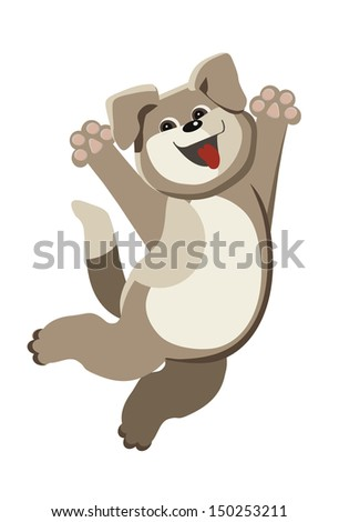 Happy Puppy - stock vector