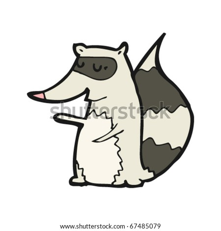 happy raccoon cartoon