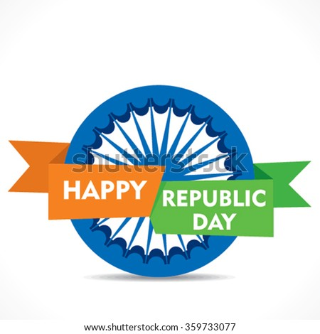 Happy republic day greeting card design stock vector 2018 happy republic day greeting card design vector m4hsunfo