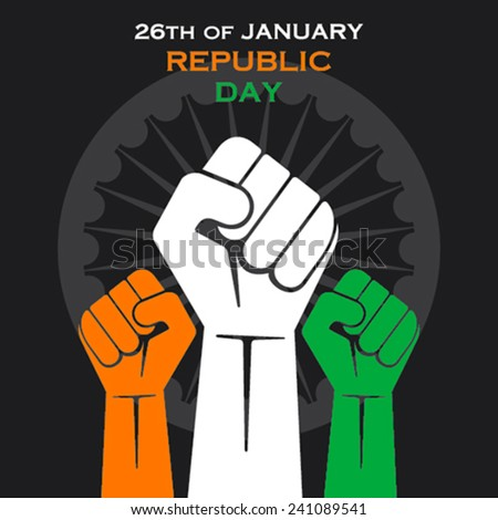 happy republic day greeting design or unity concept vector - stock vector