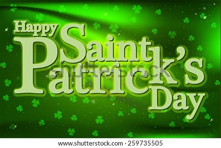 Happy Saint Patrick's Day background - stock vector