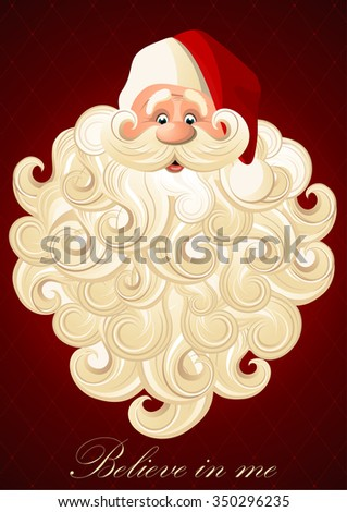Happy Santa Claus on a red background - stock vector