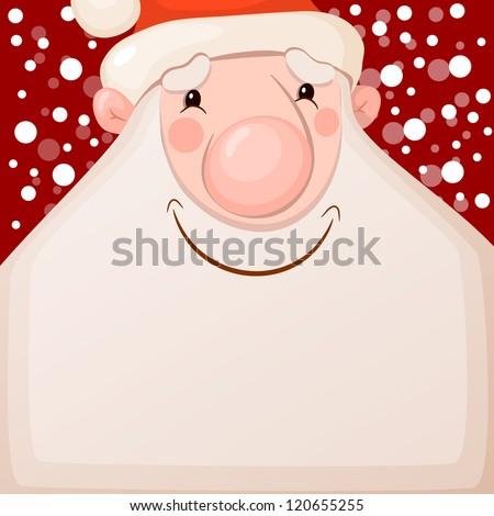 Happy Santa Claus. Vector illustration - stock vector