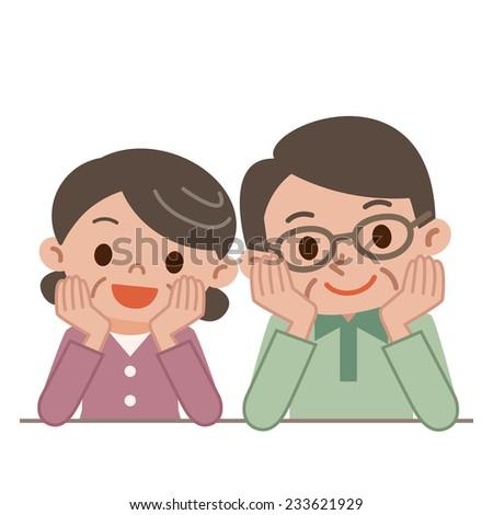 Happy senior couple - stock vector