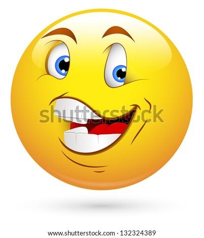 Happy Smiley Vector Illustration - stock vector