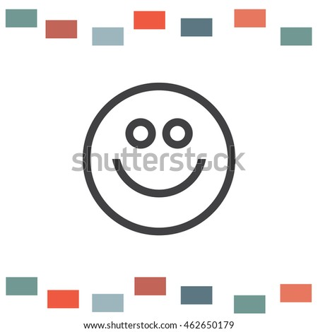 Happy smiling face line vector icon. Positive emotions sign. Happiness and cheerful symbol. Emoticon pictograph