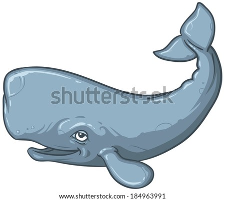 Miss shione sperm whale cartoon
