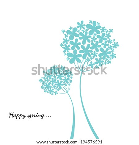 Happy spring - stock vector