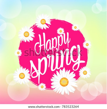 Happy spring beautiful greeting card bunch stock vector 783523264 happy spring beautiful greeting card with bunch flowers background m4hsunfo