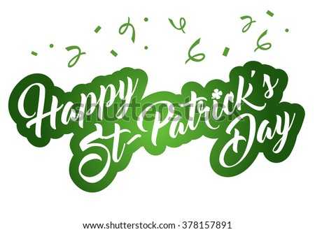 Happy St Patrick's Day Background  - stock vector