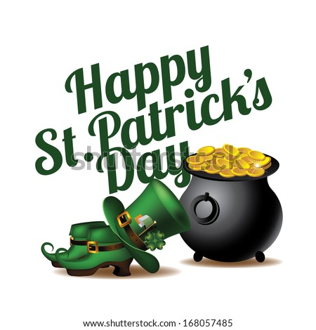 Happy St. Patrick�s Day design element. EPS 10 vector, grouped for easy editing. No open shapes or paths. - stock vector