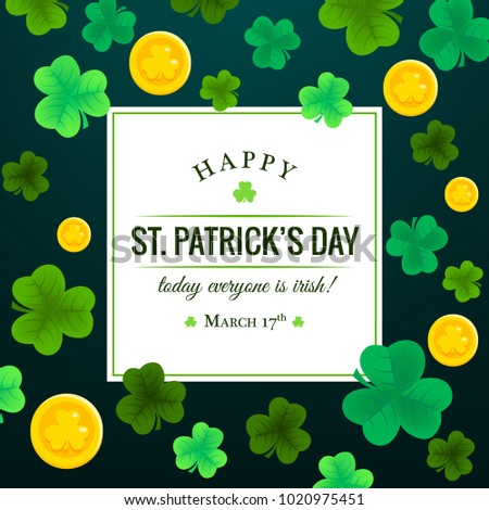 Happy St. Patrick's Day Invitation, wallpaper, flyers, poster, brochure, banners