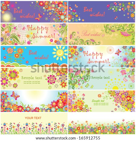 Happy summer! - stock vector
